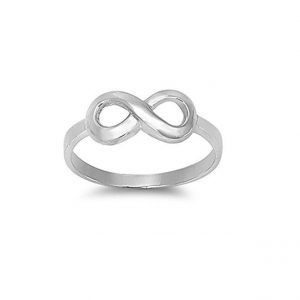 925 Sterling Silver Infinity Symbol   Ring