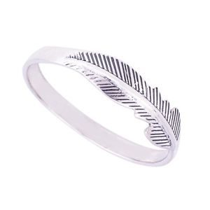 925 Sterling Silver Celtic Feather Ring