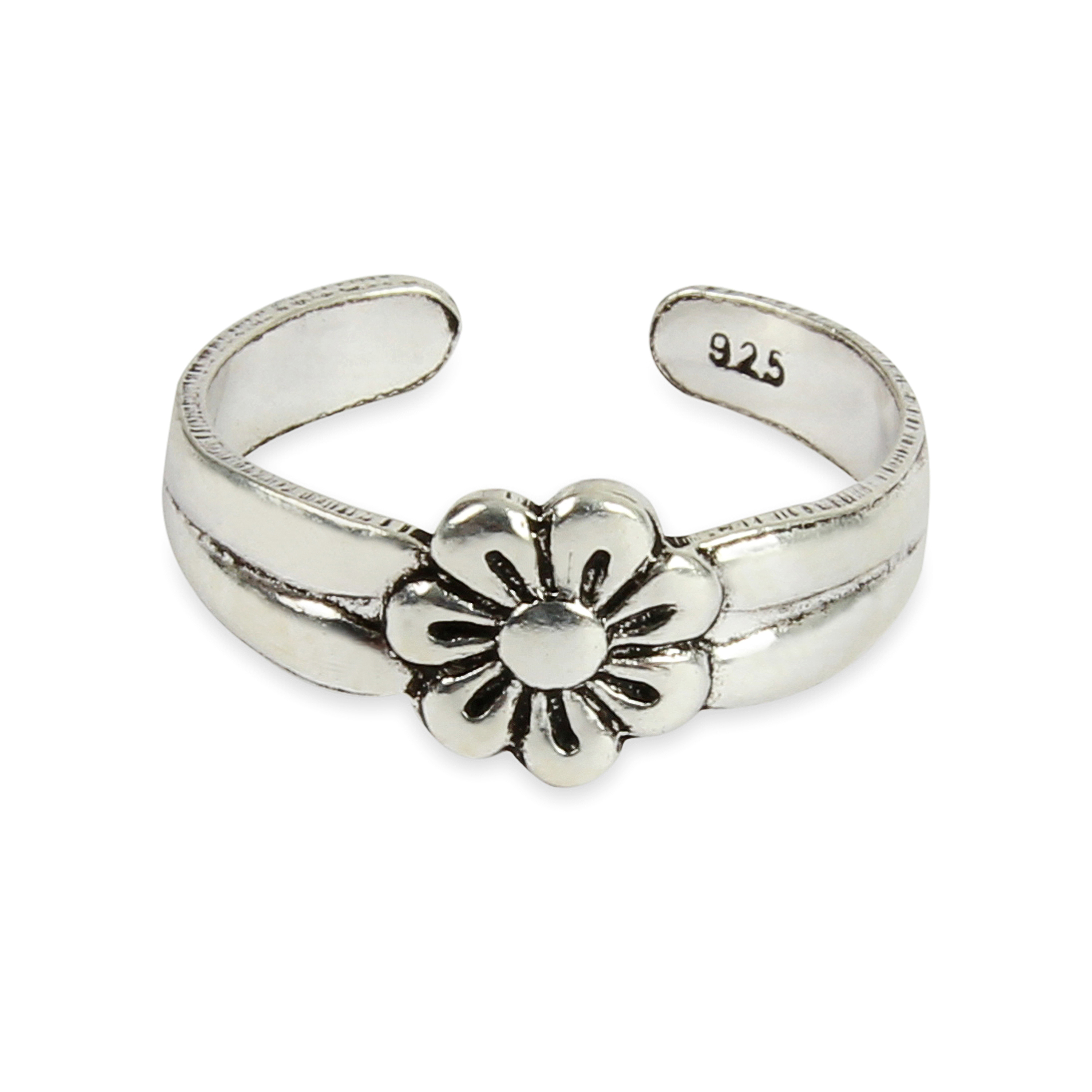 Sterling Silver Daisy Flower Toe Ring Ps58zQQe